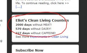 2000 days without eating meat